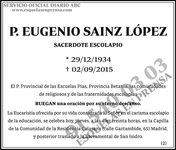 Eugenio Sainz López